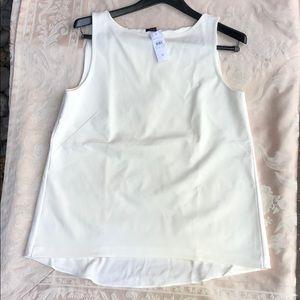 Ann Taylor Sleeveless Cream Polyester Knit Top